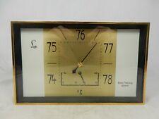 Ungewöhnliche 70´s Design LUFFT Wetterstation Barometer & Thermometer working