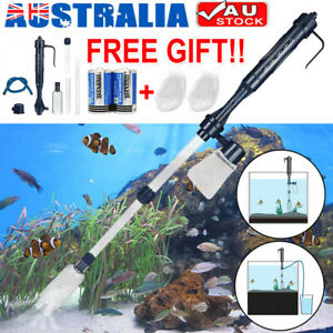 Aquarium Electric Siphon Pump Vacuum Cleaner Fish Tank Clean Water Change Gravel