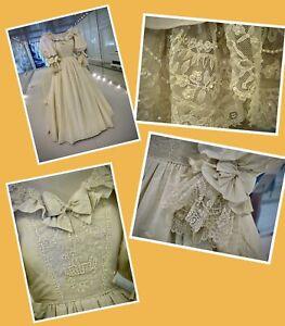 Princess Diana Wedding Dress Original Detailed Photographs