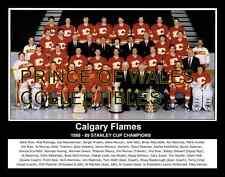 1989 CALGARY FLAMES TEAM PHOTO 8X10