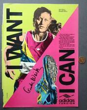 Olympic Marathon Star Grete Waitz signed autographed Adidas Magazine ad photo!