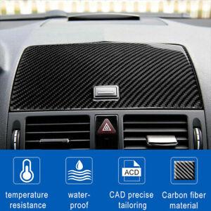 GPS Carbon Fiber Console Navigation Cover For Mercedes-Benz C Class W204 2007-10