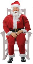 CHRISTMAS ANIMATED LIFE SIZE SANTA INDOOR OUTDOOR PORCH DECORATION W/ SENSOR PAD