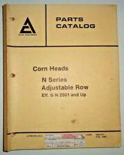 Allis Chalmers Gleaner Combine N Series Corn Head Parts Catalog (s/n 2001 & up)