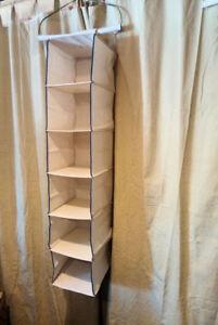 Canvas Expanding Shelves: Shoe / Clothing /Sweater Storage ~ Closet Pole Hanging