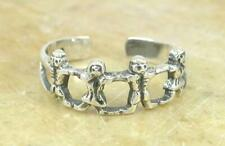 CUTE STERLING SILVER KIDS CHILDREN ADJUSTABLE TOE RING  style# tr73