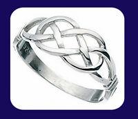 Silver Celtic Knot Ring 925 Hallmark Ladies