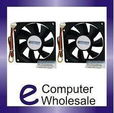 2 x 80mm Computer Case Cooling Fan+Multi Fan Cable.Cooler Rear/Front Internal PC