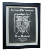 HAWKWIND+Silver Machine+POSTER+AD+RARE ORIGINAL 1978+FRAMED+EXPRESS+GLOBAL SHIP