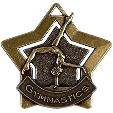60mm Bronze Mini Star Gymnastics Medal with Ribbon (AM719B) gw
