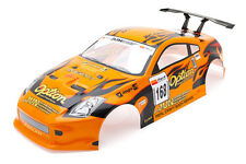 RCG Racing Nissan 350Z 1/10th RC Car Body Shell Orange 190mm S004O
