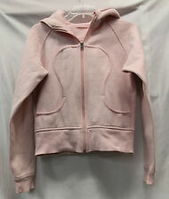 Lululemon Womens Pink Scuba Sweatshirt Size 6ish NO SIZE TAG Excellent Used Cond