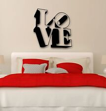 Wall Stickers Vinyl Decal Love Lettering Romance Decor for Bedroom (ig991)