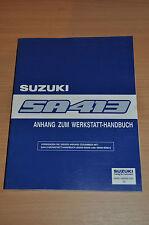 Werkstatthandbuch SUZUKI Swift SA 413 Anhang zum WHB Stand 1986