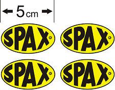 4 x Small Spax Car Stickers