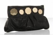 Treesje New $315 Black Leather Harper Clutch Bag   -Free Ship