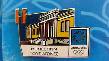 COUNTDOWN 11 MONTHS TO GO (GREEK) MUSEUM OF  VOLOS - ATHENS 2004 OLYMPIC PIN