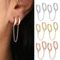 Punk Earrings Women Men Boys Stainless Steel Ear Stud Hoop Dangle Women Jewelry