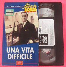 VHS film UNA VITA DIFFICILE Dino Risi Il grande cinema ALBERTO SORDI(F107)no dvd