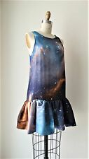 Christopher Kane Multi-Color Galaxy Printed Silk Dress Sz UK8 (US4)