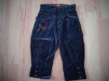 pantacourt bleu en velours ras - MARESE - 10 ans - NEUF jamais porté juste lavé