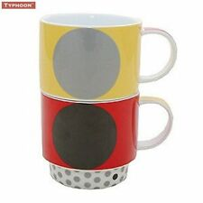 Porcelain Spotted Vintage/Retro Mugs