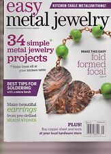 EASY METAL JEWELRY MAGAZINE 2014, 34 SIMPLE METAL PROJECTS.