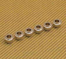 W-TAB-N (6) Nickel Finish Guitar Tuner Adapter Bushings 10mm Peghead to 6mm Post