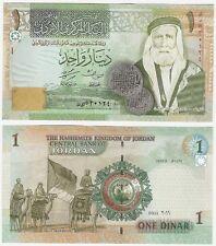 Jordan 1 dinar P-34f 2011 UNC Universel Billet-Chameaux-Grande révolte arabe
