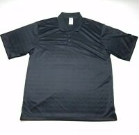 Adidas ClimaLite Golf Black Short Sleeve Polo Shirt Men's Size Large L