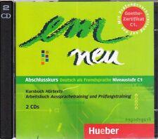 Hueber EM NEU Abschlusskurs AUDIO CDs zum Kursbuch und Arbeitsbuch Niveau C1 NEW