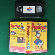 VHS Walt Disney PAPERINO UN DISASTRO DI EROE (ITA 1999) VP 1111  OTTIMO no dvd