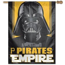 "PITTSBURGH PIRATES EMPIRE DARTH VADER 27""X37"" BANNER FLAG BRAND NEW WINCRAFT"