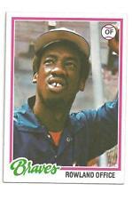 1978 Topps #632 Rowland Office Atlanta Braves