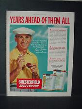 1953 Ben Hogan Golf Champion Chesterfield Cigarette Vintage Print Ad 10739