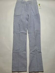 NWT Vintage Dead Stock To a Tee Golf Tennis Pants Women's SIZE 2 Blue Stripes