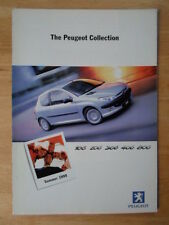 PEUGEOT RANGE orig 1999 UK Mkt Sales Brochure - 106 206 306 406 806