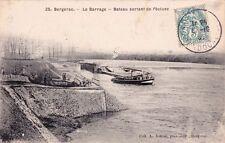 BERGERAC 25 barrage bâteau sortant de l'écluse bâteaux coll astruc timbrée 1907