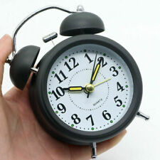 Uhr Alarm Aufziehwecker Glockenwecker Nostalgie Doppelglocken Wecker Schwarz