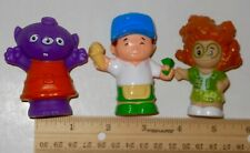 Lot Of 3 Fisher Price Little People Figures 3 Eyed Monster, Ice Cream Man, Sofie