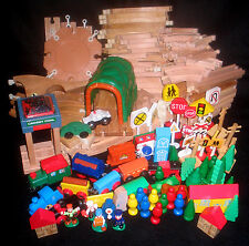 * Classic Brio Compatible Wood Preschool Train Table Lot *
