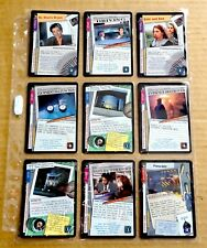 THE X-FILES PREMIERE EDITION CCG/TCG SLEEVE OF 9 x UNCOMMON CARDS  NEW/1996  (D)