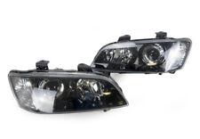 Headlights Pair Black For Holden Commodore Vessv/Calais 2006-2010