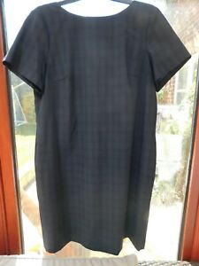 Women's Next SP Tailoring Premium navy blue midi work dress UK size 16