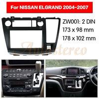 2Din Car Stereo Radio Fascia Panel Audio Trim For Nissan Elgrand (E51) 2004-2007