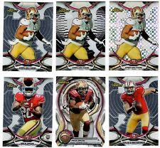 San Fransisco 49ers 6-Card Lot RC Refractor Die-Cut Hyde Davis Non-Auto