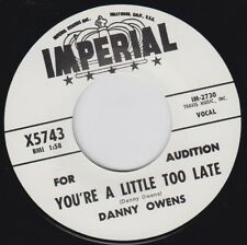 "DANNY OWENS You're A Little Too Late 7""Re Raucous 1961 Northern R&B Monster HEAR"