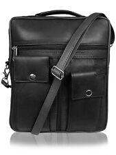 Men's Travel Utility Bag - Mans Leather Shoulder Man Bag Holster Roamlite RL504M