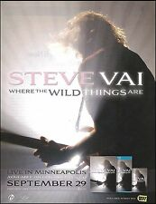Steve Vai 2009 Where The Wild Things Are album ad 8 x 11 advertisement print