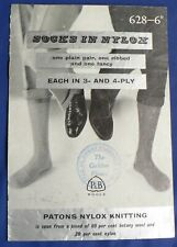 Patons 'Socks in Nylox' Knitting Pattern 628